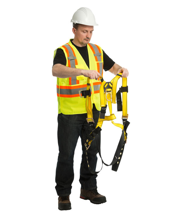 Working at heights safety training and safety harness